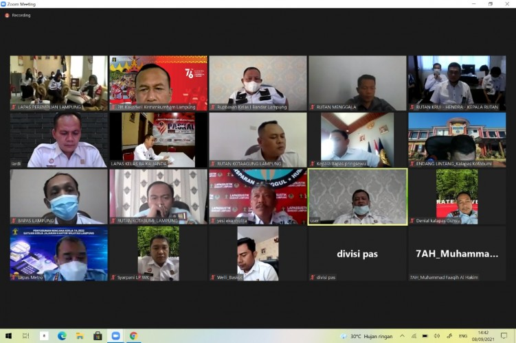 Kemenkumham Lampung Atensi dan Antisipasi Kebakaran di Lapas