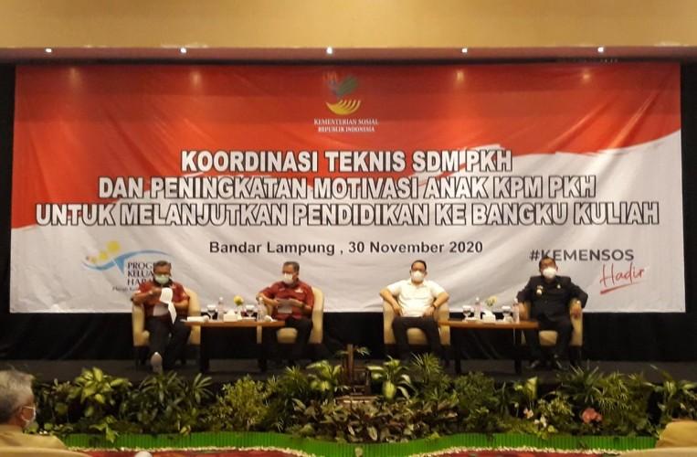 Kemensos Dorong Gerakan Ayo Kuliah Anak KPM PKHdi Lampung