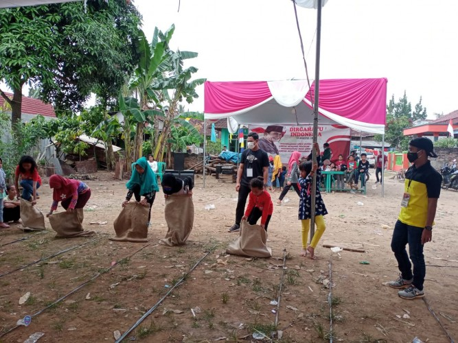 Kemeriahan Lomba Agustusan Dusun Sukamaju Usung Protokol Kesehatan