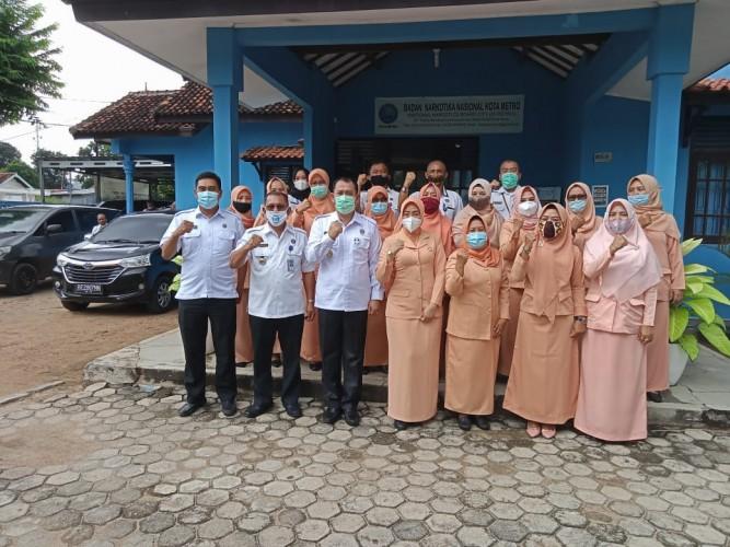 Kepala BNN Provinsi Lampung Kunjungi BNN Kota Metro