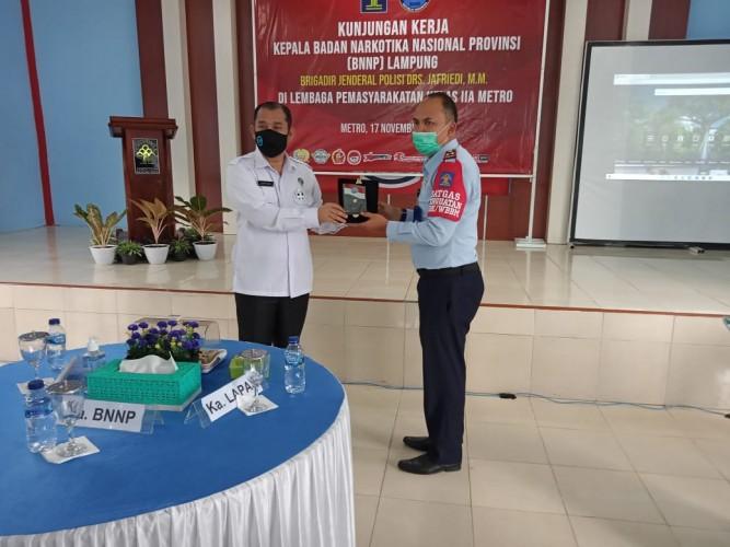 Kepala BNNP Lampung Minta Lapas Metro Komit Menegakkan P4GN