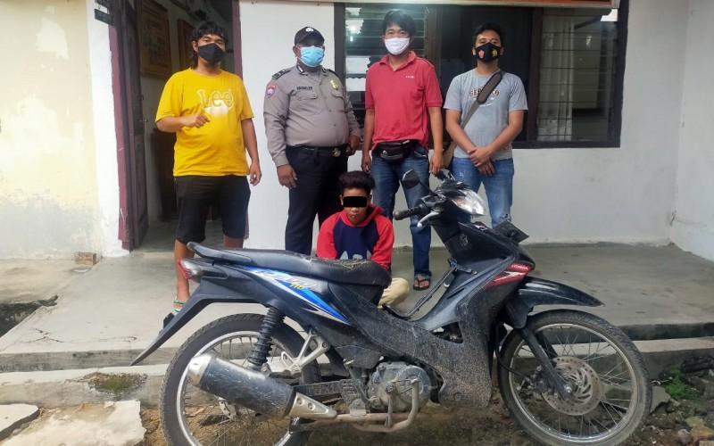 Kepergok Mencuri Motor, Pemuda Asal Ujunggunung Ditangkap Warga