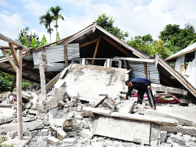 Kerugian Gempa di Lombok Barat Capai Rp4,1 Triliun
