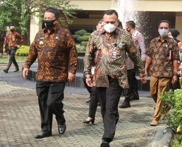 Ketua KPK Kumpulkan Kepala Daerah Se-Lampung di Gedung Pusiban