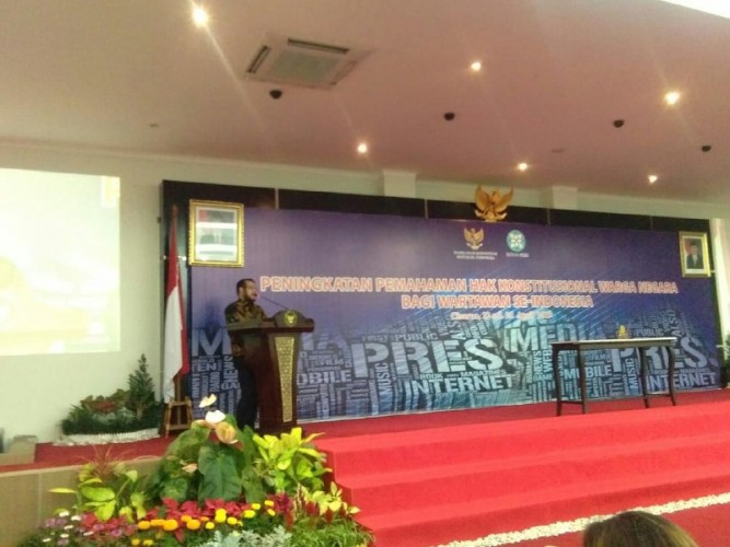 Ketua MK Buka Kegiatan PeningkatanPemahaman Hak Konstitusional Warga Negara