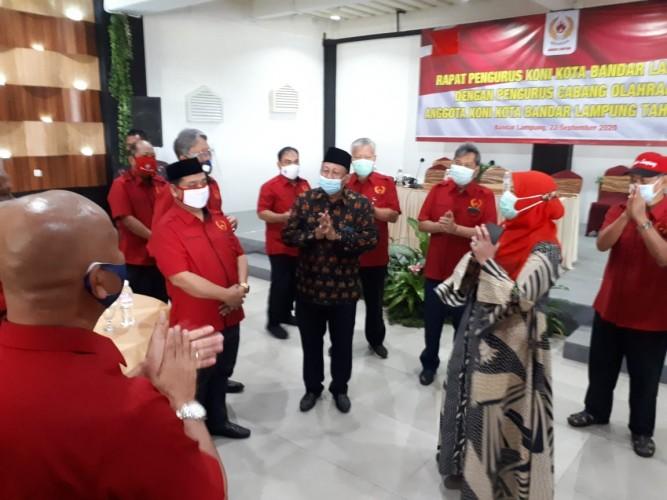 Ketua Umum KONI Bandar Lampung Cuti, Waketum II Jadi Plt