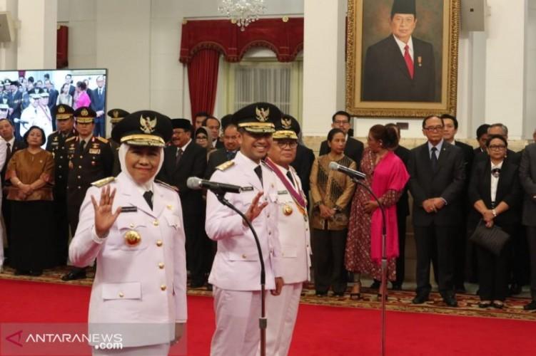 Khofifah Indar Parawansa Dilantik Jadi Gubernur Jawa Timur