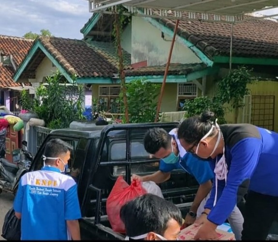 KNPI Bandar Lampung Salurkan Bantuan ke Korban Banjir