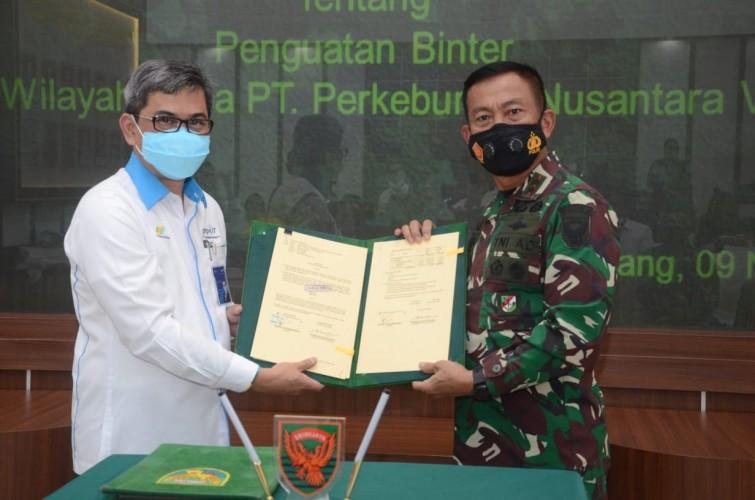 Kodam II-PTPN7 Jajaki Kerja Sama Ketahanan Pangan