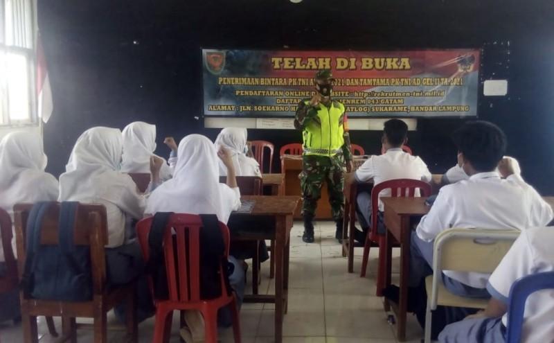 Kodim 0422 Lambar Ajak Pelajar Jadi Prajurit TNI