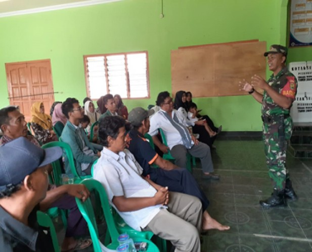 Kodim 0426 Sosialisasi Penerimaan Anggota TNI di Pelosok Kampung