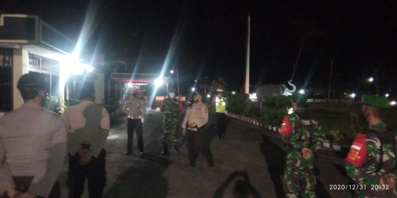Kodim-Polres Lambar Patroli Gabungan di Malam Tahun Baru