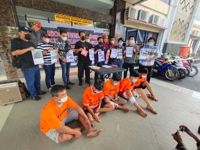 Komplotan Curanmor Gasak 50 Motor di Bandar Lampung