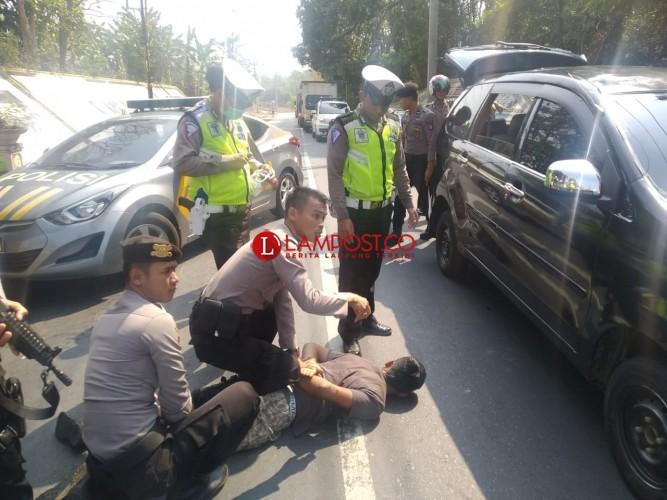Komplotan Pencuri Mobil Ditangkap saat Razia Lalu Lintas di Way Kanan