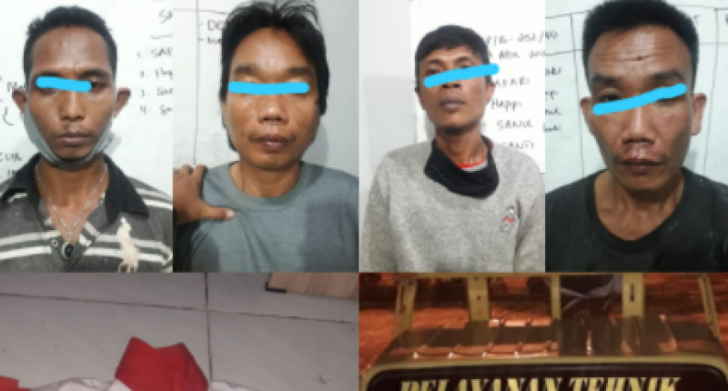 Komplotan Pencuri Tiang Telkom Dibekuk