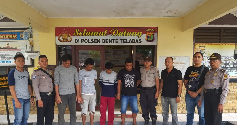 Komplotan Spesialis Pencuri Alat Tambak di Tulangbawang Ini Dibekuk Polisi