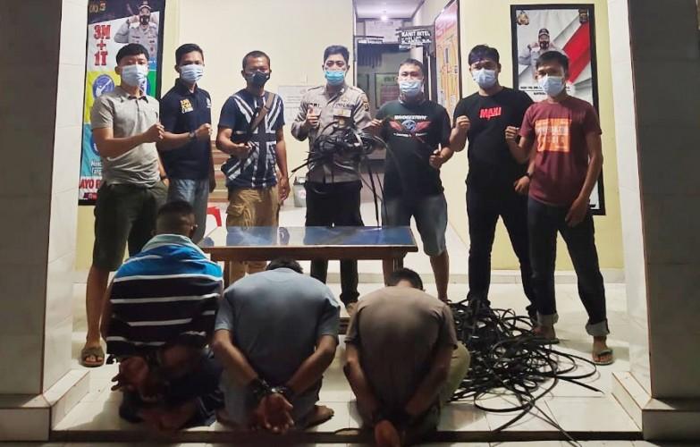 Komplotan Spesialis Pencuri Kabel Listrik di Tulangbawang Dibekuk Polisi