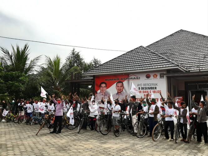 Komunitas Sepeda Onthel Sehat dan Minion Dukung Zaiful-Bokhari-Sudibyo