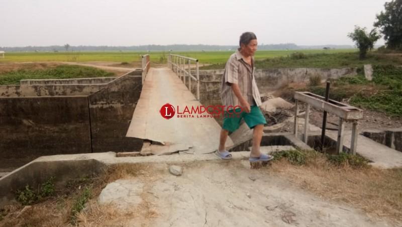 Jembatan Bendungan Palaspasemah Berbahaya