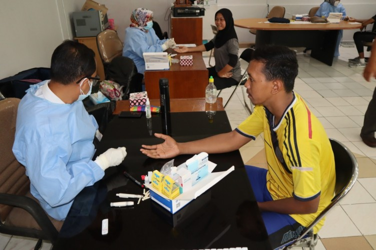 KONI Lampung Menggelar Rapid Test Atlet Pelatprov