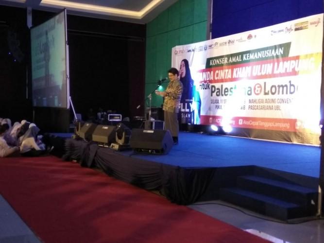 Konser Amal Kemanusiaan Tanda Cinta Palestina dan Lombok Dihadiri Ribuan Masyarakat