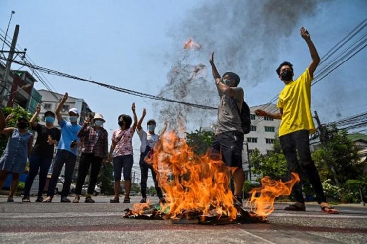 Korban Tewas Kekerasan Militer Myanmar Capai 550 Orang