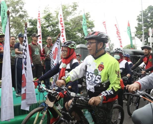 Korem 043/Gatam Gelar Fun Bike dan Bakti Sosial
