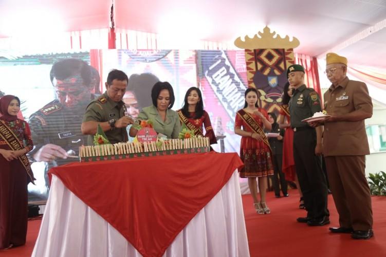 Korem 043 Gatam Peringati Hari Juang TNI AD Ke-74