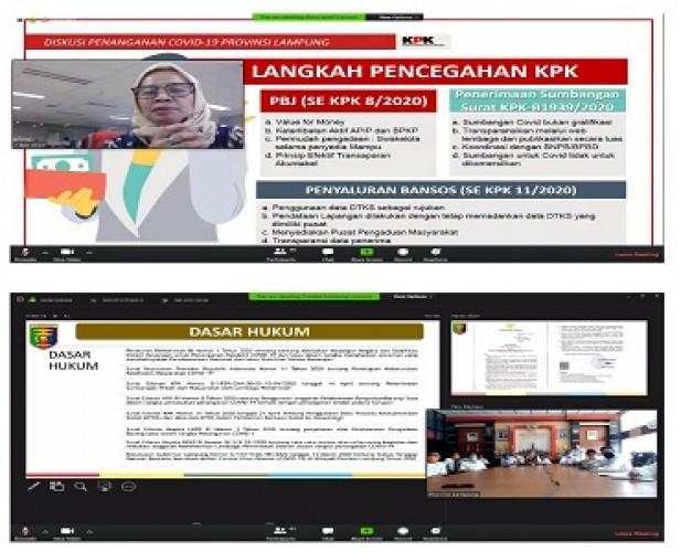 KPK Awasi Penggunaan Dana Penanganan Covid-19 di Lampung