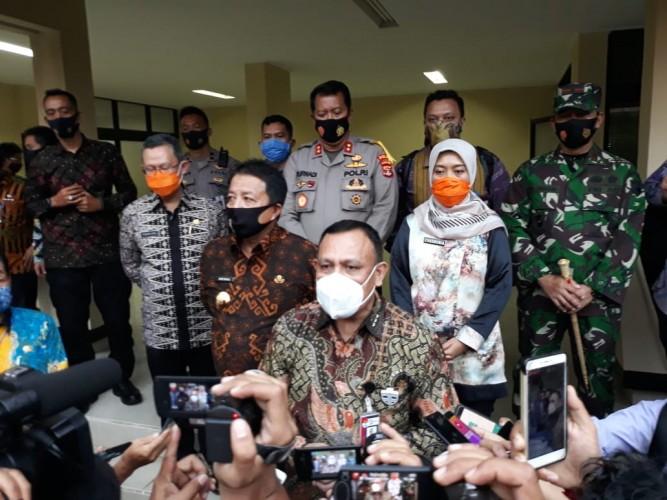 KPKEnggan Beberkan Dua Tersangka Korupsi Lampung Selatan