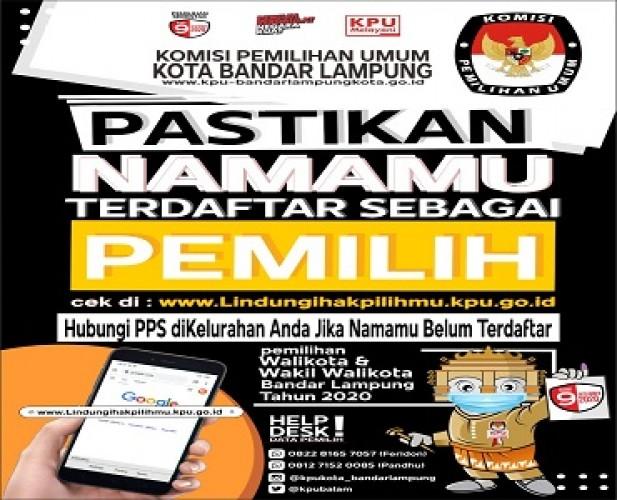 KPU Bandar Lampung Ajak Masyarakat Cek DPS