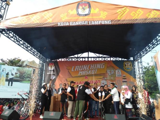 KPU Bandar Lampung Luncurkan Maskot dan Jingle Pilkada