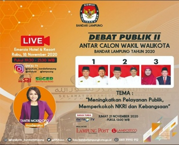 KPU Bandar Lampung MemperbolehkanCalon Bawa Buku Visi-Misi