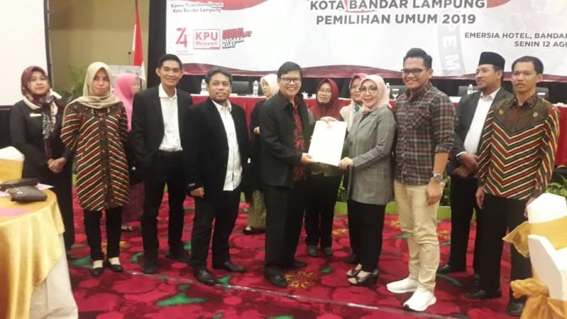 KPU Bandar Lampung Tetapkan 50 Anggota DPRD Terpilih