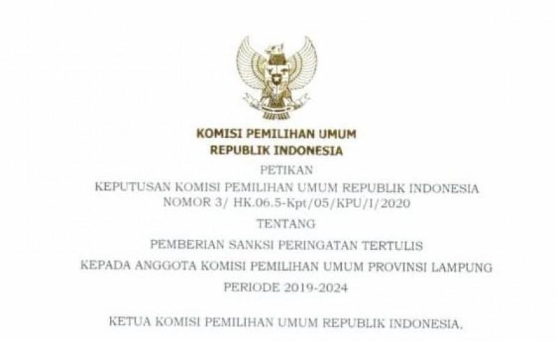 KPU Jatuhkan Sanksi ke Esti Nur Fathonah Terkait Dugaan Jual Beli Kursi