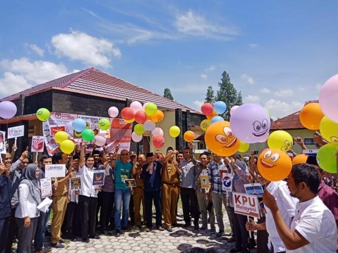 KPU Lampung Barat Luncurkan Gerakan Melindungi Hak pilih