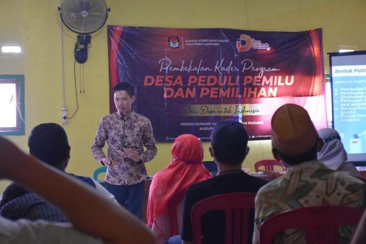 KPU Lampung Bekali Kader Desa Peduli Pemilu di Tanggamus