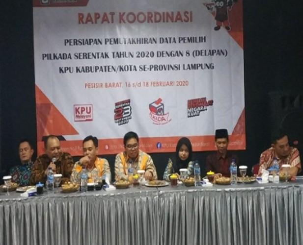 KPU Lampung Mantapkan Konsolidasi Pilkada Serentak 2020