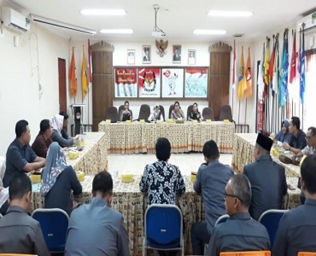 KPU Lampung Rakor dengan Sekretaris KPU Kabupaten/Kota