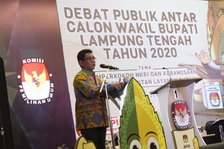 KPU Lamteng Gelar Debat Publik Calon Wakil Bupati