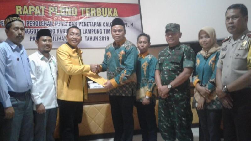 KPU Lamtim Tetapkan 50 Anggota DPRDTerpilih, Berikut Nama-Namanya