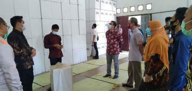 KPU Pusat Tinjau Kesiapan Logistik Pilkada Lamsel
