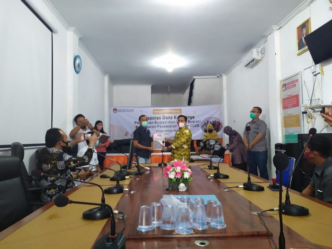 KPU Resmi Tetapkan Dua Paslon di Pilkada Pesawaran