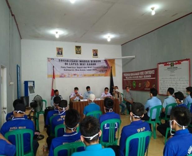 KPU Sosialisasi Pilkada di Lapas Way Kanan