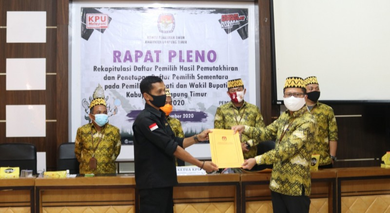 KPU Tetapkan DPS Pilkada Lamtim Sebanyak 771.113