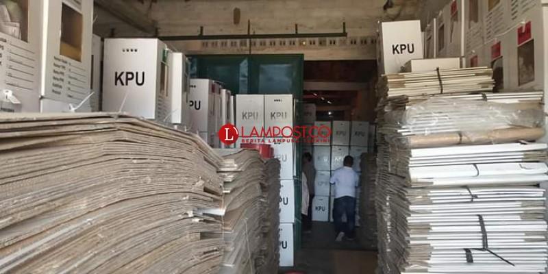 KPU Tubaba akan Lelang Bekas Logistik Pemilu 2019