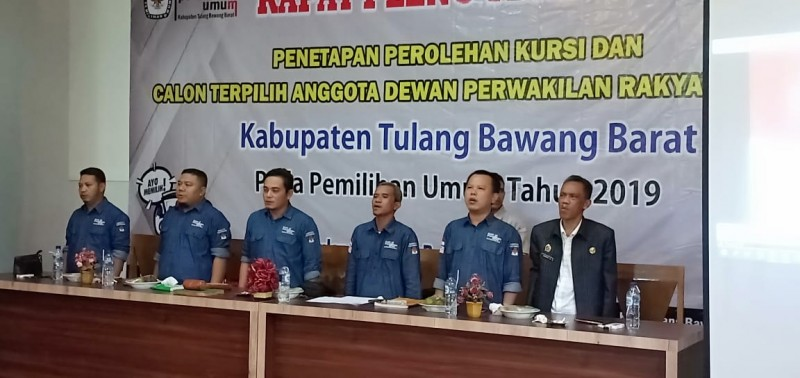 KPU Tubaba Tetapkan Anggota DPRD Terpilih di Pileg 2019, Ini Dia 30 Anggota Terpilih