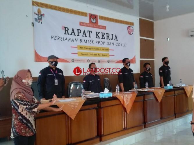 KPU Way Kanan Gelar Rapat Kerja Persiapan Coklit