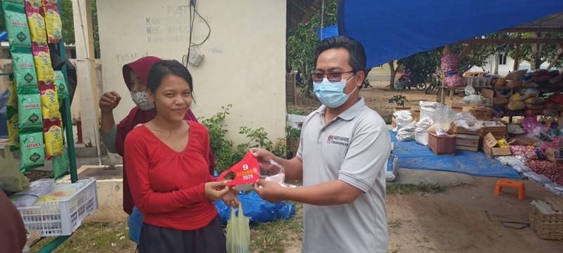 KPU Way Kanan Gerebek Pasar Sosialisasikan Pilkada 2020