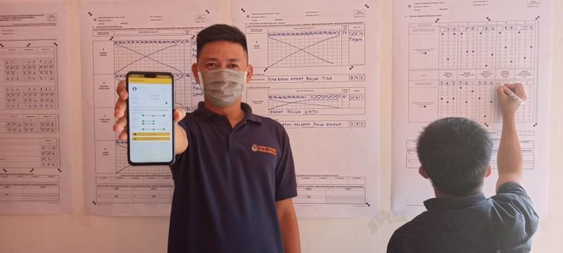 KPU Way Kanan Ikuti Simulasi Aplikasi Rekap Elektronik